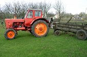 foto of sidecar  - a tractor with a sidecar - JPG
