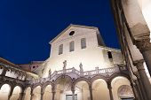 Salerno, Campania, Italy: Exterior Of The Cathedral By Night poster
