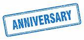 Anniversary Stamp. Anniversary Square Grunge Sign. Anniversary poster