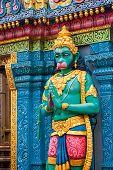 stock photo of hanuman  - Hanuman statue at Sri Krishnan temple Singapore - JPG