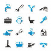 foto of stopcock  - plumbing objects and tools icons  - JPG