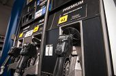 picture of high-octane  - gas  pump at petrol pump station high octane - JPG