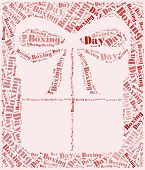 stock photo of boxing day  - Tag or word cloud boxing day related in shape of gift box - JPG