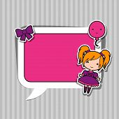 image of kawaii  - Speech bubble with sticker kawaii doodles - JPG