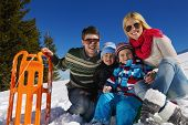 pic of snow-slide  - Winter season - JPG