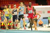 GOTHENBURG, SWEDEN - MARCH 1  Polat Kemboi Arikan (Turkey) places 3rd in heat 1 of the men's 3000m e