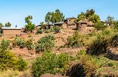 pic of ethiopia  - View at the Lalibela village in Ethiopia  - JPG