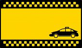 picture of cabs  - yellow cab background with space for text and cab - JPG