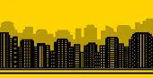 stock photo of municipal  - yellow city backdrop  - JPG