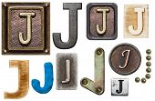 picture of letter j  - Alphabet made of wood - JPG