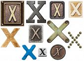 foto of letter x  - Alphabet made of wood - JPG