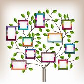 image of substitutes  - Memories tree with photo frames. 