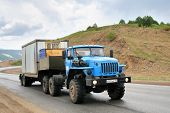 foto of semi trailer  - CHELYABINSK REGION RUSSIA  - JPG