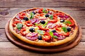 pic of yellow-pepper  - Pizza with ham - JPG