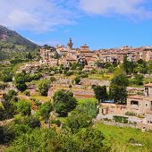 pic of chopin  - View of Valldemossa on Mallorca Balearic Islands Spain - JPG