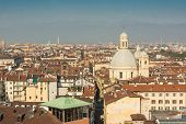 picture of turin  - A view from above of Turin, Italy