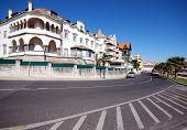 picture of tourist-spot  - Beautiful building in Cascais on Lisbon - JPG