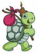 foto of wild adventure  - Adventure Turtle Funny Cartoon Editable  - JPG
