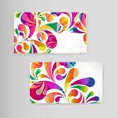 pic of teardrop  - Sample business card with bright teardrop - JPG