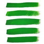 picture of stroking  - Illustration of Green ink vector brush strokes - JPG