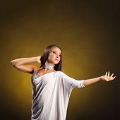 ������, ������: Beautiful Professional Dancer Performs Latino Dance Passion And Expression