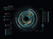 pic of futuristic  - Futuristic color infographics as head - JPG