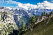 stock photo of italian alps  - Italian Alps in Val Badia Natural Park of Puez-Odle
