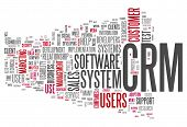 foto of customer relationship management  - Word Cloud with CRM  - JPG