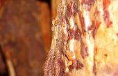 pic of slaughter  - Smoked meat in the smoking chamber the original home slaughters. ** Note: Shallow depth of field - JPG