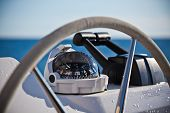 pic of yachts  - Sailing yacht control wheel and implement - JPG