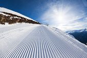 stock photo of caucus  - Sunny winter landscape of snow ski - JPG