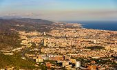 picture of gaudi barcelona  - View of Barcelona from the top of Sagrat Cor temple - JPG
