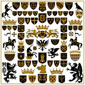 pic of crusader  - Collection of old coats of arms and heraldic symbols - JPG