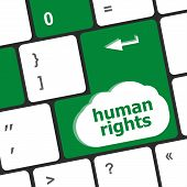 pic of human rights  - arrow button with human rights word on it - JPG