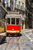 pic of tram  - LISBON PORTUGAL  - JPG
