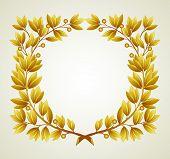 picture of laurel  - Laurel branch wreath - JPG