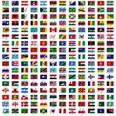 picture of sweden flag  - Flags of the world and  map on white background - JPG