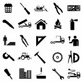 stock photo of micrometer  - Collection flat icons - JPG