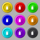stock photo of paint spray  - Graffiti spray can sign icon - JPG