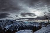 picture of italian alps  - Ski Slope near Madonna di Campiglio Ski Resort - JPG