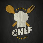 picture of chefs hat  - Restaurant concept with chef hat - JPG