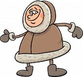 picture of eskimos  - Cartoon Illustration of Funny Eskimo or Lapp Man - JPG