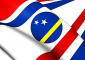 foto of curacao  - Governor of Curacao 3D Flag - JPG