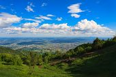 stock photo of italian alps  - Mountain landscape from Monte Grappa Italy in the Italian Alps - JPG