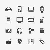 stock photo of flashing  - Devices and gadgets icons set - JPG