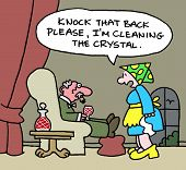 foto of posh  - A cleaning lady says to her posh old boss - JPG