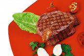 picture of red meat  - barbecued meat  - JPG