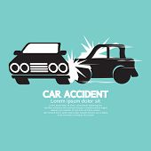 picture of accident emergency  - Two Cars In An Accident Vector Illustration - JPG