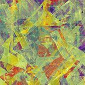 image of violets  - Grunge background with vintage and retro design elements - JPG