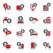 stock photo of elevator icon  - payment of  bills icons  - JPG